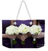 Bridesmaids With Flowers Weekender Tote Bag
