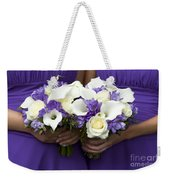Bridesmaids With Wedding Bouquets Weekender Tote Bag