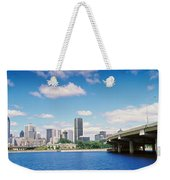 Bridge Across A Canal, Lachine Canal Weekender Tote Bag