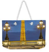 Bridge And Eiffel Weekender Tote Bag