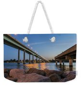 Bridge And Fishing Pier Weekender Tote Bag