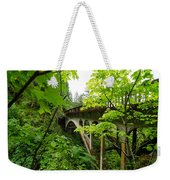 Bridge And Lush Vegetation Weekender Tote Bag