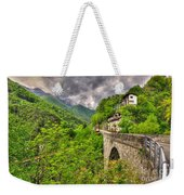 Bridge And Mountain Weekender Tote Bag