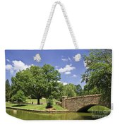 Bridge At A Park In The Summer Weekender Tote Bag