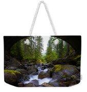 Bridge Below Rainier Weekender Tote Bag by Chad Dutson