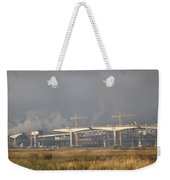 Bridge Building Weekender Tote Bag by Bill Gallagher