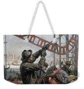 Bridge Construction 1909 Weekender Tote Bag
