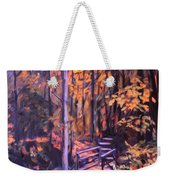 Bridge In Woods Near Pandapas Weekender Tote Bag
