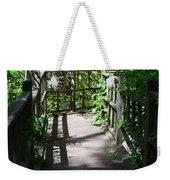 Bridge In Woods Weekender Tote Bag