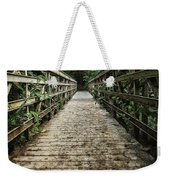 Bridge Leading Into The Bamboo Jungle Weekender Tote Bag