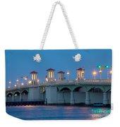 Bridge Of Lions At Dusk St Augustine Florida Weekender Tote Bag
