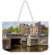 Bridge On Singel Canal In Amsterdam Weekender Tote Bag