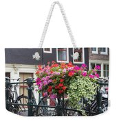 Bridge Over Canal In Amsterdam Weekender Tote Bag