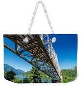 Bridge Over Columbia River Weekender Tote Bag