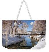 Bridge Over Icy Water Weekender Tote Bag