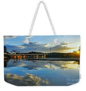 Bridge Over Lake At Sunset Narrabeen Lakes Sydney Weekender Tote Bag
