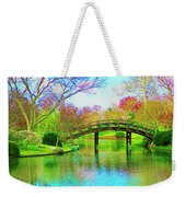 Bridge Over Lake In Spring Weekender Tote Bag