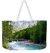 Bridge Over Mcdonald Creek In Glacier Np-mt Weekender Tote Bag