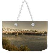 Bridge Over Rhein River Weekender Tote Bag