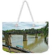 Bridge Over River Kwai In Kanchanaburi-thailand Weekender Tote Bag