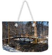 Bridge Over Snowy Valley Creek Weekender Tote Bag