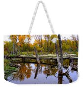 Bridge Over The Pond Weekender Tote Bag