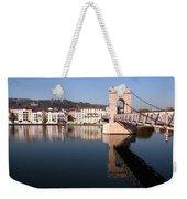 Bridge Over The Rhone River Weekender Tote Bag