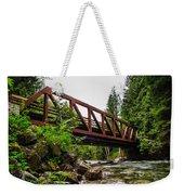 Bridge Over The Snoqualmie River - Washington Weekender Tote Bag