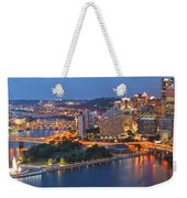 Bridge To The Pittsburgh Skyline Weekender Tote Bag