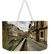 Bridges At Darro Street In Historic Albaycin In Granada Weekender Tote Bag