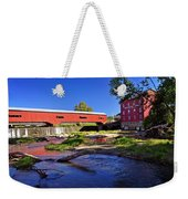Bridgeton Covered Bridge 4 Weekender Tote Bag by Marty Koch