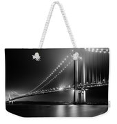 Bridging Verrazano Narrows Weekender Tote Bag