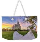 Brigham City Sunset Weekender Tote Bag