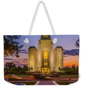Brigham City Temple Moon N Stars Weekender Tote Bag