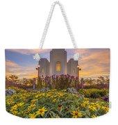 Brigham City Temple Vertical Panorama Weekender Tote Bag