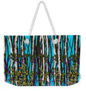 Bright Blue And Birch Weekender Tote Bag