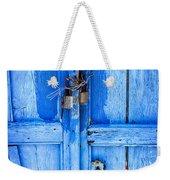 Bright Blue Door Weekender Tote Bag