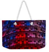 Bright Blue Red And Pink Illumination - Agbar Tower Barcelona Weekender Tote Bag