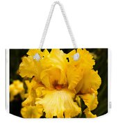 Bright Bright Spring Yellow Iris Flower Fine Art Photography Print  Weekender Tote Bag