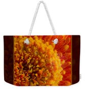Bright Budding And Golden Abstract Flower Painting Weekender Tote Bag