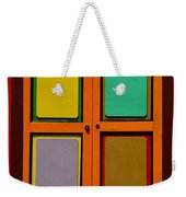 Bright Colorful Window Shutters With Four Panels Weekender Tote Bag