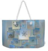 Snowflake Collage - Bright Crystals 2012-2014 Weekender Tote Bag by Alexey Kljatov