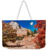 Bright Fall Colors At Zion Weekender Tote Bag