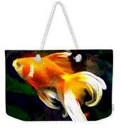 Bright Golden Fish In Dark Pond Weekender Tote Bag