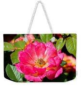 Bright Pink Rose Weekender Tote Bag