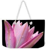 Bright Pink Trumpet Lily  Weekender Tote Bag