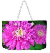 Bright Pink Zinnia Flowers Weekender Tote Bag