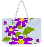 Bright Purple Weekender Tote Bag