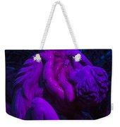 Bright Purple Cupid Weekender Tote Bag