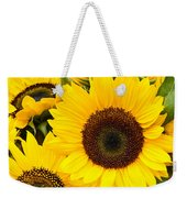 Bright Sunflower Blossoms Weekender Tote Bag